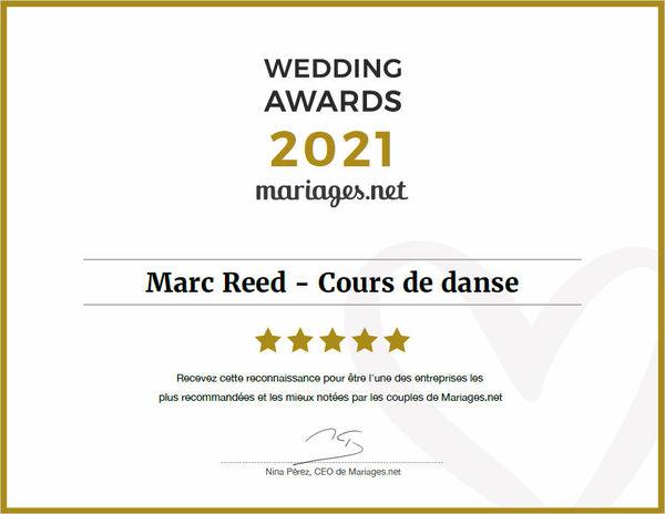 Mariage.net Wedding Awards 2020 Marc Reed est un excellent professeur, venez prendre un cours de danse